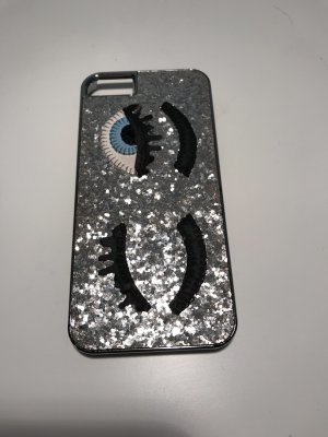 Chiara Ferragni Hoesje voor mobiele telefoons zilver-zwart