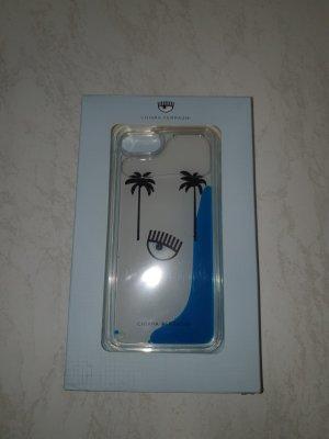Chiara Ferragni Étui pour téléphone portable noir-bleu