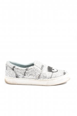 Chiara Ferragni Instapsneakers zilver casual uitstraling