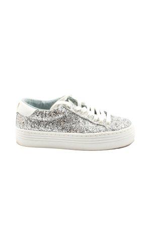 Chiara Ferragni Lace-Up Sneaker silver-colored glittery