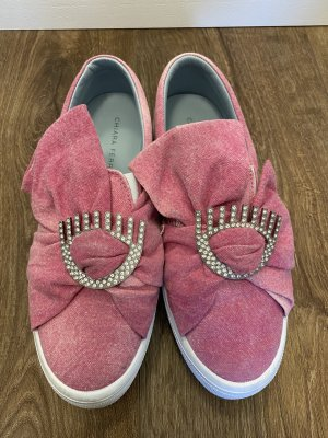 Chiara Ferragni Sneakersy wciągane różowy-srebrny