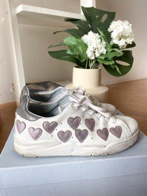 Chiara Ferragni Sneakers met veters wit-lichtroze
