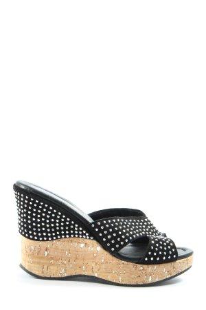 Chiara Pasquini Wedges Sandaletten schwarz-silberfarben Elegant