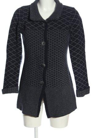 Chiaramente Cardigan black-light grey graphic pattern casual look