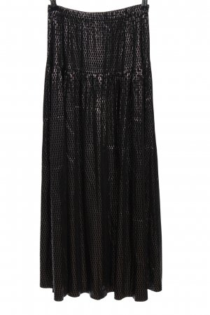 Chiaro Glockenrock schwarz-silberfarben Allover-Druck Elegant