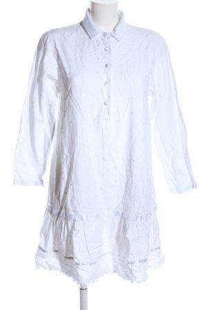 Chiarugi A-Linien Kleid weiß Blumenmuster Casual-Look