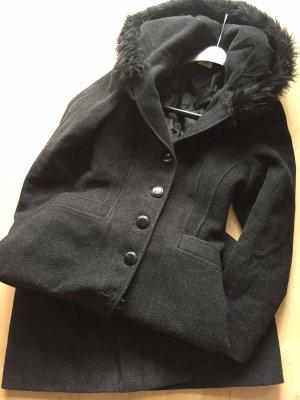 Chic Damen BodenLang Winter Mantel mit Kapuze