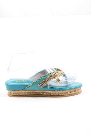 Chic Flip-Flop Sandals blue casual look