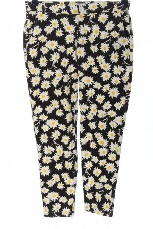 chic & jeune Jersey Pants black-white allover print casual look
