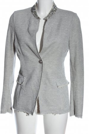 Chic & Mit Short Blazer light grey-silver-colored flecked business style