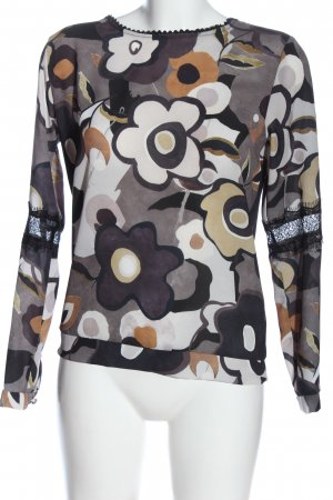 Chic & Mit Blouse met lange mouwen abstract patroon casual uitstraling