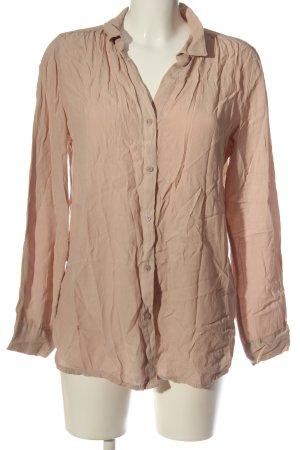Chic & Mit Shirt met lange mouwen nude zakelijke stijl