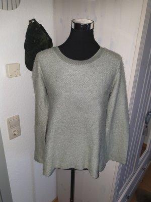 Chic & Mit Wełniany sweter jasnobeżowy-szaro-zielony