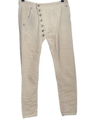 Chic & Mit Spodnie materiałowe w kolorze białej wełny W stylu casual