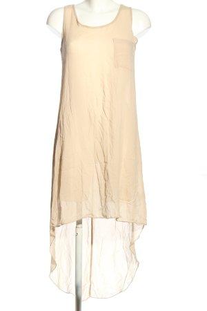 Chic & Mit Szyfonowa sukienka kremowy W stylu casual