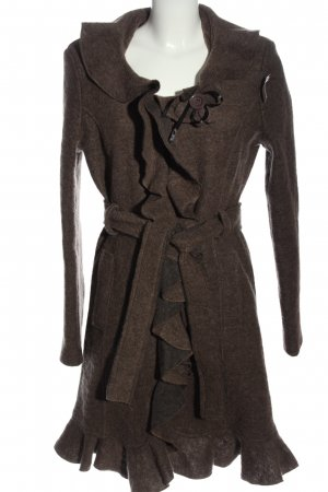 Chic & Mit Short Coat brown flecked casual look