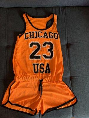 chicago Bulls Szorty sportowe pomarańczowy neonowy
