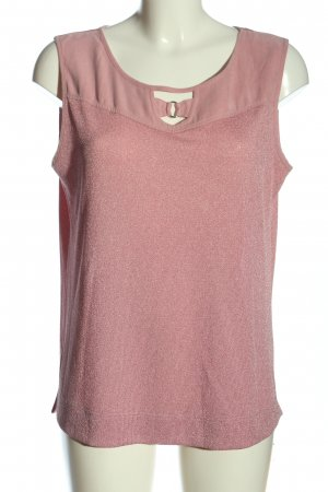 Chicc Mouwloze blouse roze casual uitstraling