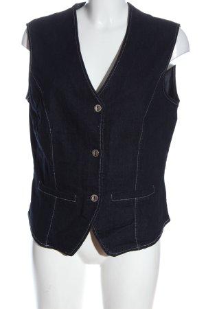 Chicc Denim Vest blue casual look