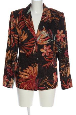 Chicc Korte blazer bloemenprint klassieke stijl
