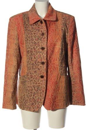 Chicc Short Blazer light orange graphic pattern casual look