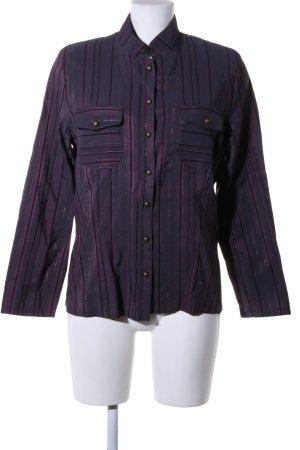 Chicc Shirt met lange mouwen lila-zwart kleurverloop wetlook