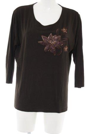 Chicc Longesleeve bruin bloemenprint casual uitstraling