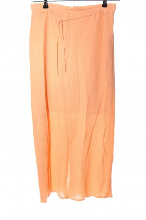 Chicc Maxi rok licht Oranje casual uitstraling
