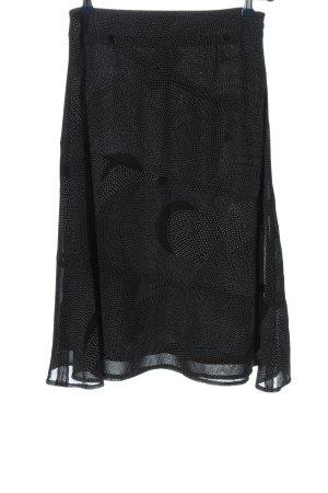 Chicc Midi-rok zwart-wit volledige print casual uitstraling