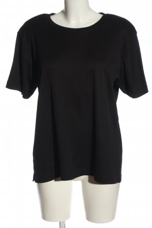 Chicc Knitted Jumper black striped pattern casual look