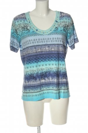 Chicc T-Shirt blue themed print casual look