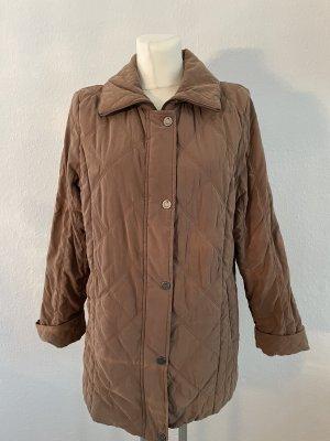 Cappotto trapuntato marrone-marrone chiaro