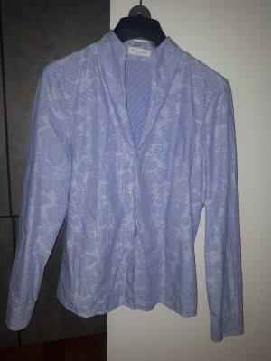 Christian Berg Long Sleeve Blouse azure cotton