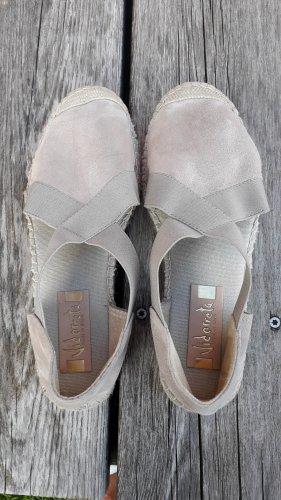 Vidorreta Espadrille sandalen licht beige