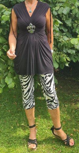 Rinascimento Pantalone Capri bianco-nero