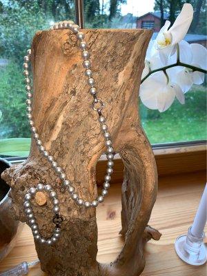 Pierre Lang Collana di perle grigio chiaro-argento