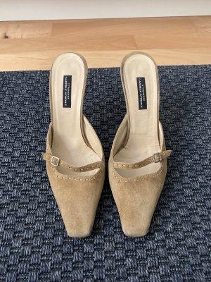 Strenesse Heel Pantolettes sand brown