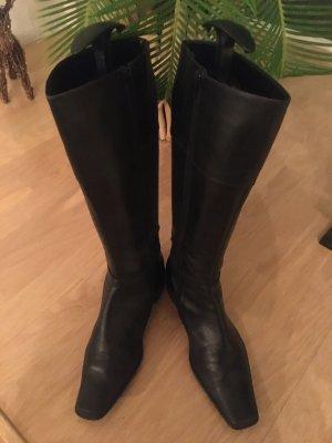 Chice schwarze Lederstiefel, Gr. 39