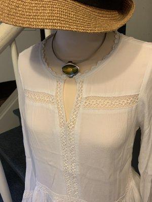 Cream Długa bluzka biały