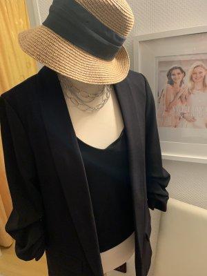 H&M Oversized shirt zwart-zilver