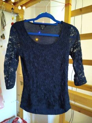 Amisu Lace Top dark blue