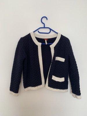 Key Largo Short Sleeve Knitted Jacket blue-white cotton