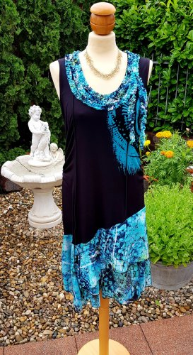Biba Summer Dress black-turquoise