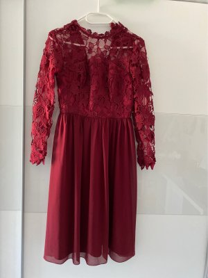 ChiChi London Chiffon Dress bordeaux