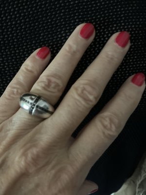 Pierre Lang Zilveren ring zwart-zilver