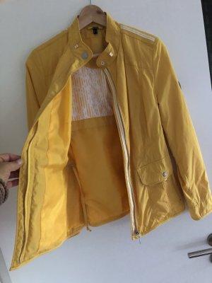 BARBARA LEBEK Kurtka przejściowa żółty-biały