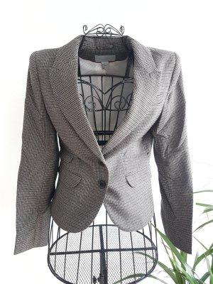 H&M Divided Tweed Blazer light grey-dark grey