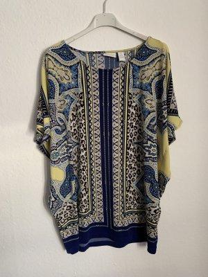 Chico's Camicia a tunica blu scuro-giallo pallido