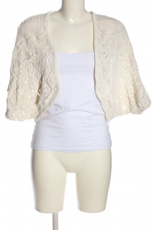Chicorée Bolero white weave pattern casual look