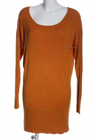 Chicorée Lange jumper licht Oranje casual uitstraling